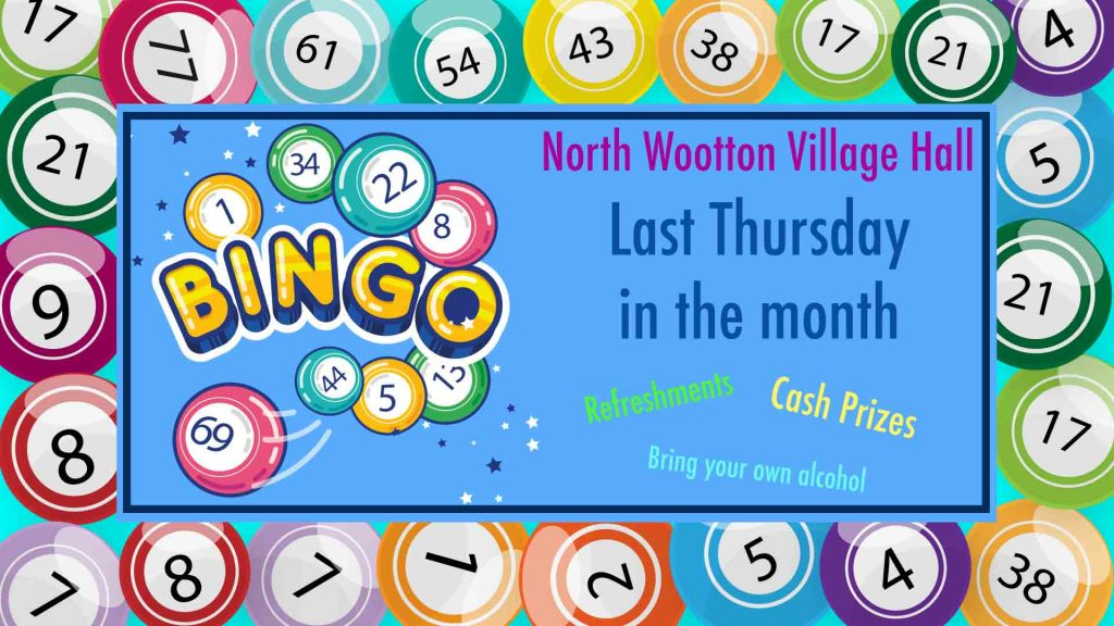 Bingo North Wootton Village Hall Kings Lynn Norfolk Prize Cash