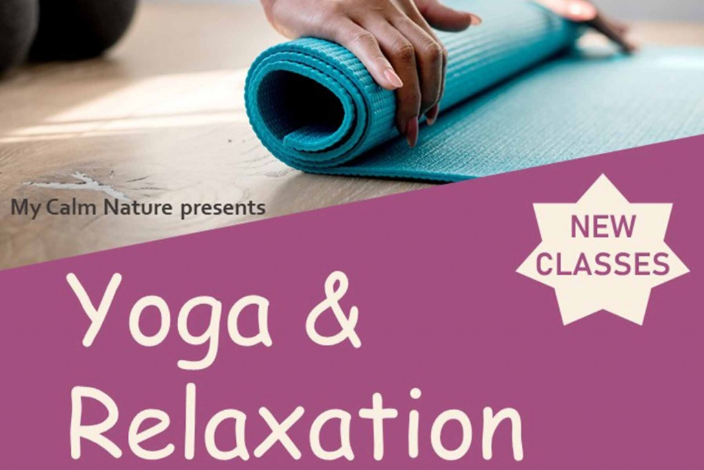 My Calm Nature Yoga Relaxation Class North Wootton Village Hall Kings Lynn Norfolk Event Venue Craft Market