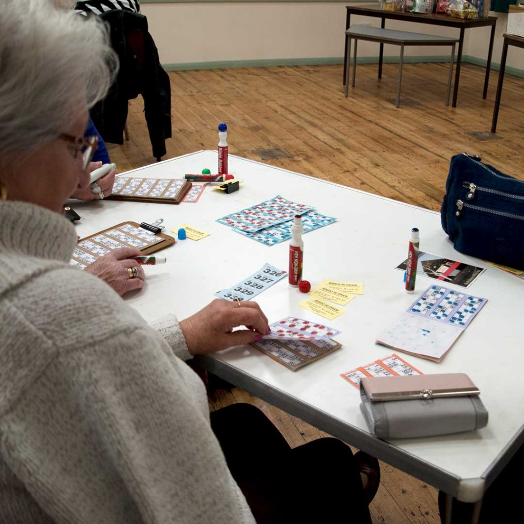 Bingo Playing North Wootton Village Hall Kings Lynn Norfolk