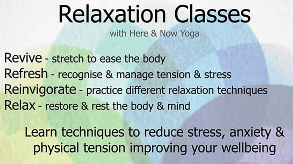Relaxation Class North Wootton Village Hall Kings Lynn Norfolk Event Venue