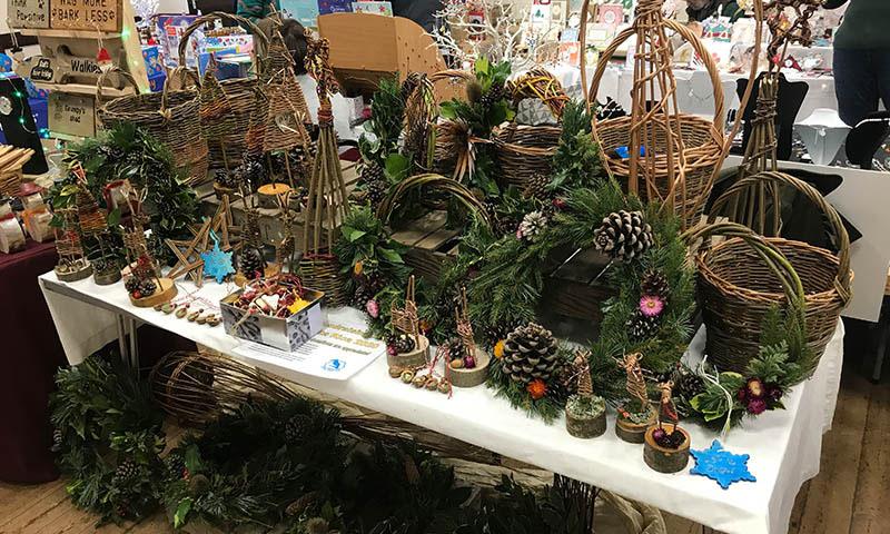 Christmas Fair 2021 02 Karen Bek North Wootton Village Market Village Hall Kings Lynn Norfolk Craft Fair Real Christmas Tree Sale