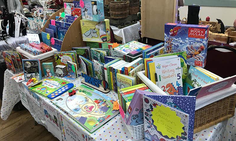 Christmas Fair 2021 07 Usborne Books North Wootton Village Market Village Hall Kings Lynn Norfolk Craft Fair Real Christmas Tree Sale